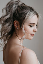 Load image into Gallery viewer, Rose Gold Bridal Earrings