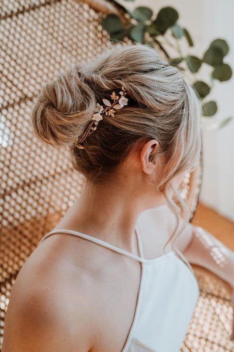 Opal and Gold Bridal Hairpiece