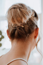 Load image into Gallery viewer, Opal and Gold Bridal Hairpiece