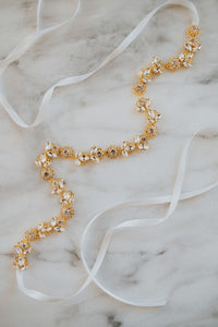 Gold Leaf Bridal Sash