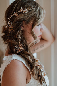 Gold Bridal Hair Vine