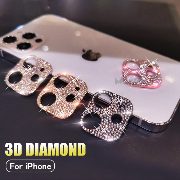 Phone Case - Bling Diamond Camera Lens Protector For iPhone XS 11 12 Series