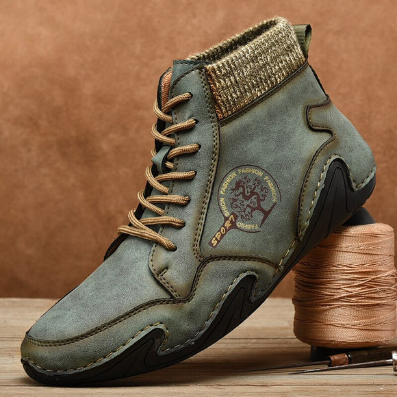 Shawbest - New Men Handmade Leather Ankle Boots
