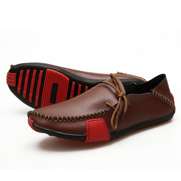 Men's Fashion Handmade Sewing Leather Loafers