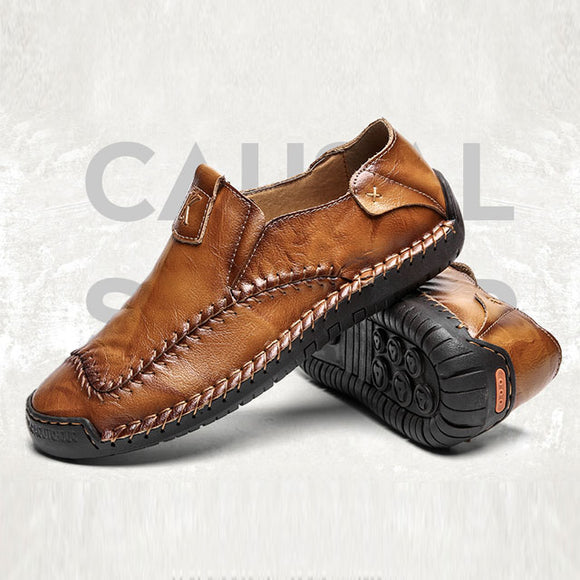 Shawbest-Handmade Leather Casual Men Shoes