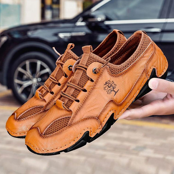 Shawbest-Split Leather Men Casual Shoes