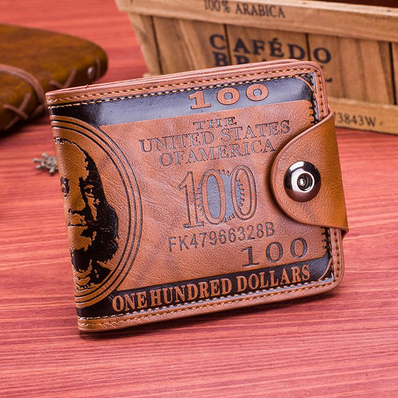Genuine Leather Men's Casual Wallet
