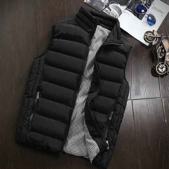 Shawbest - Mens Winter Casual Jacket Sleeveless Vest