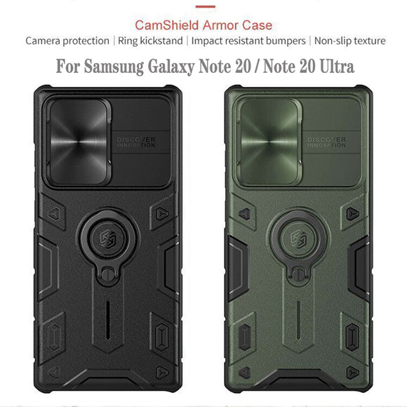 Impact Resistant Armor Cover Slide Camera Case for Samsung Galaxy Note 20