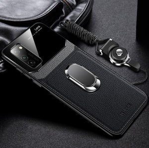 Shawbest - Leather+Hard PC Stand Ring Cover For Samsung Galaxy Note 20 S20 Ultra