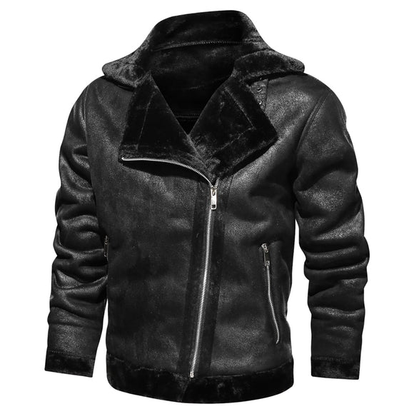 Men Classic Motorcycle Cowboy Jacket