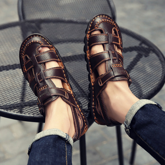 Handmade Soft Breathable Genuine Cow Leather Sandals