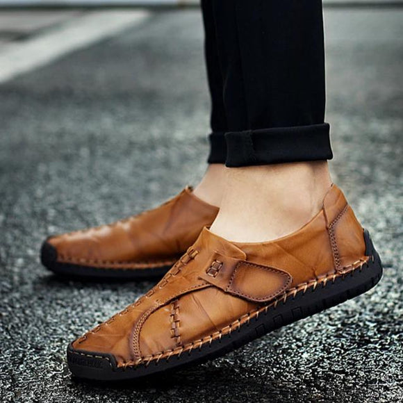 Handmade Mens Moccasins Leather Loafers