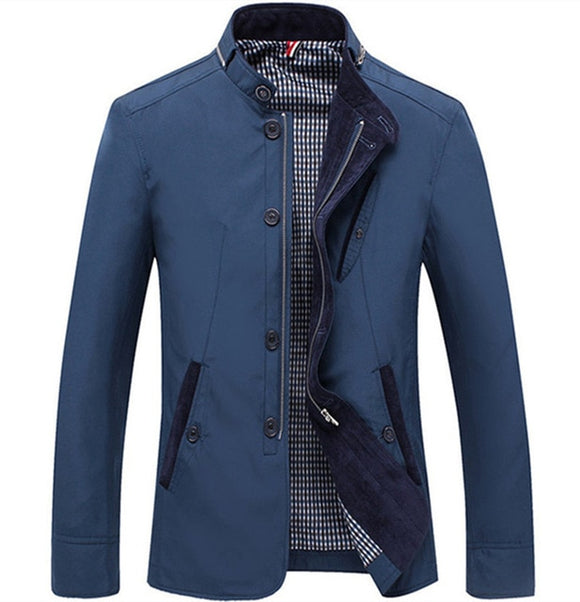 Shawbest-Casual Business Stand Collar Jacket
