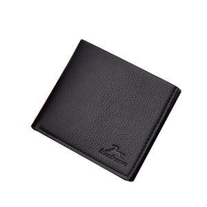 Popular Men's Solid Color Retro Wallets