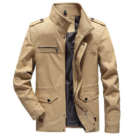 Shawbest-Casual Washed Outdoor Tooling Jacket