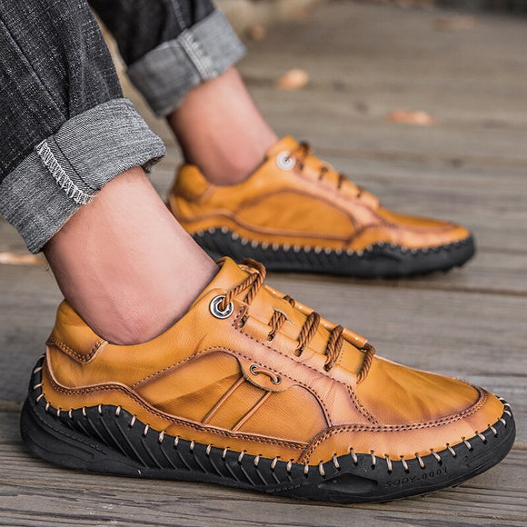 Shawbest - Men Moccasins Leather Casual Shoes