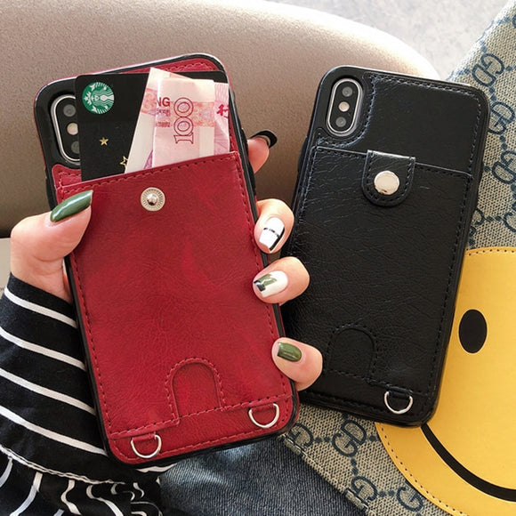 IPhone Leather Phone Case Coin Purse