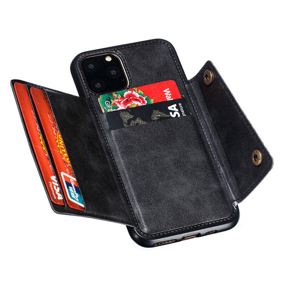 Luxury Flip Leather Wallet Cases For iPhone