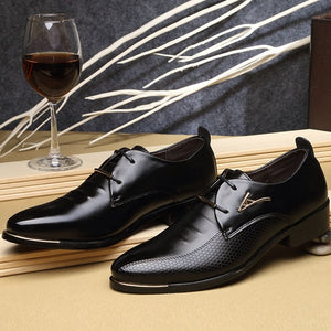 Pointed Toe Mens Dress Oxfords Shoes