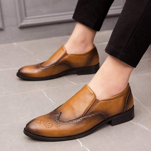 Retro Men Leather Loafers
