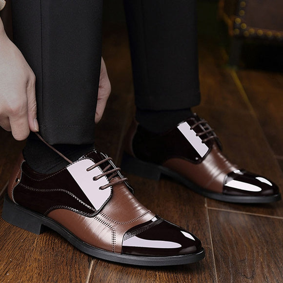 Genuine Leather Soft Men's Oxford Business Shoes