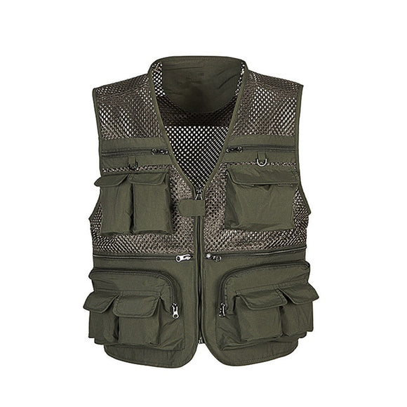 Shawbest - Mesh Work Sleeveless Jacket for Male