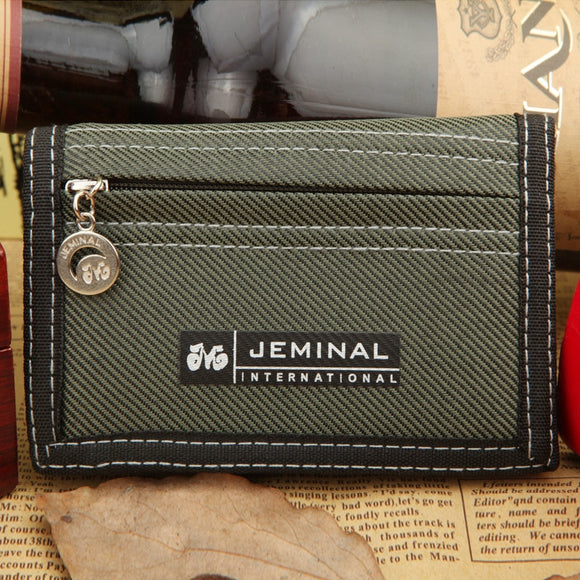 Men's Short Canvas Wallet