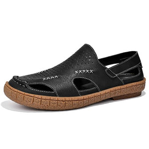 Shawbest-New Men Cow Leather Sandals