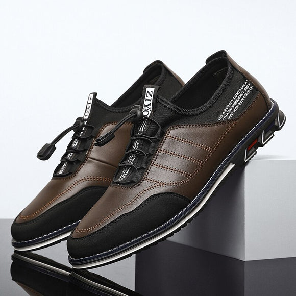 Shawbest-New Genuine Leather Men Casual Shoes