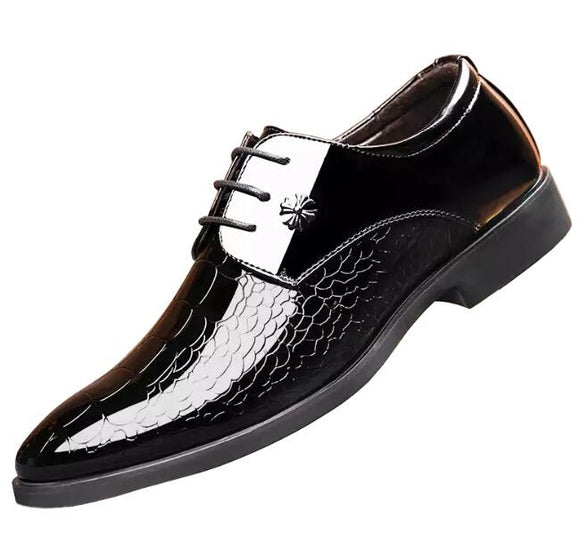 Men's Snakeskin Grain Leather Dress Shoes