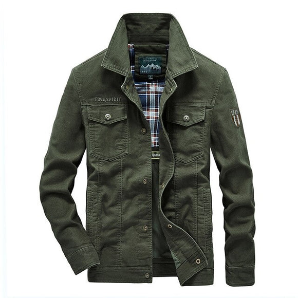 Shawbest-Quality Cotton Spring Autumn Mens Jackets