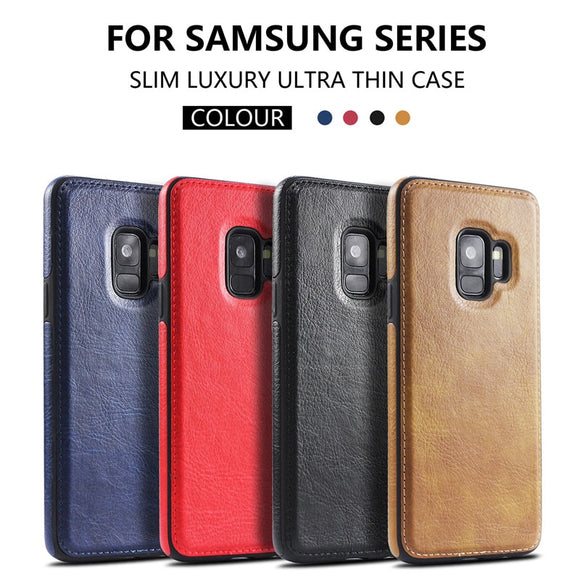 Slim PU Leather Case for Galaxy