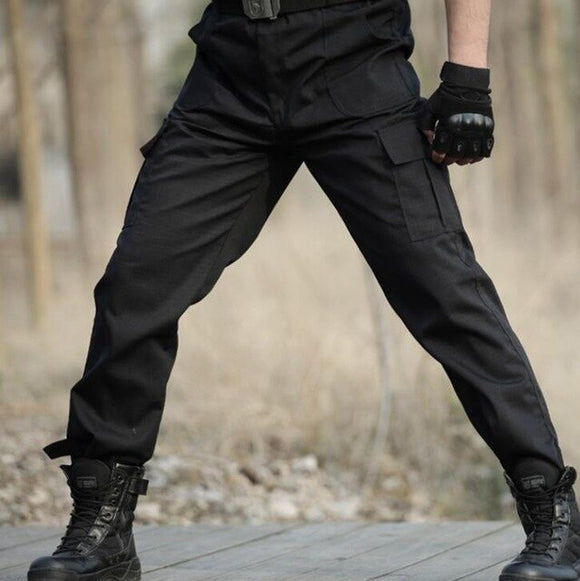 Men Fashion Casual Black Camo Cargo Pants