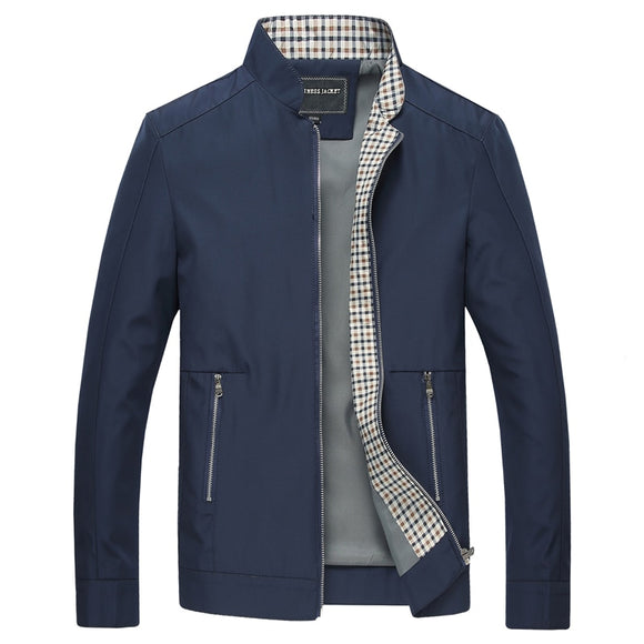Shawbest - Men Fashion Stand Collar Business Jackets Coat
