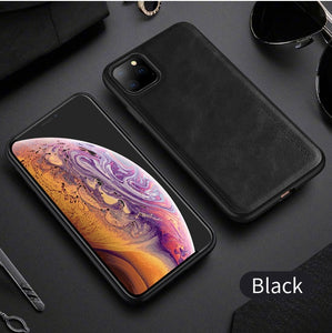 iPhone 11 11 Pro Max XR Retro Leather Case Silicone Phone Case
