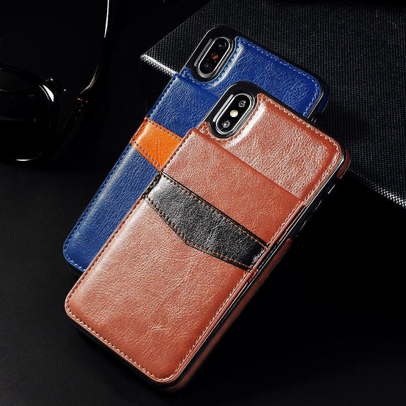 Shawbest - Luxury Flip Leather Wallet Cases For iPhone
