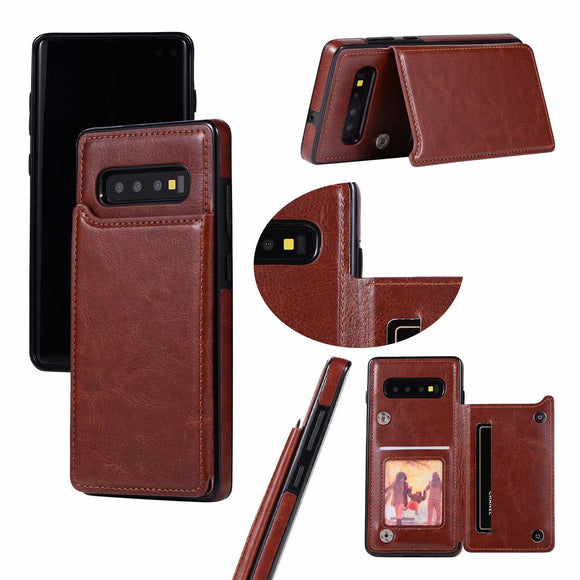 Shawbest - Retro PU Leather Wallet Card Case For Samsung Galaxy Note20/S20 Ultra Case