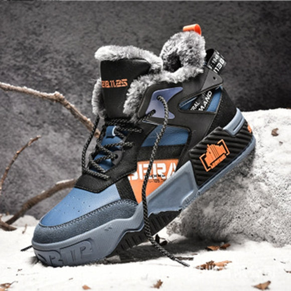 Shawbest-Winter New Men's High-Top Lace-Up Snow Boots