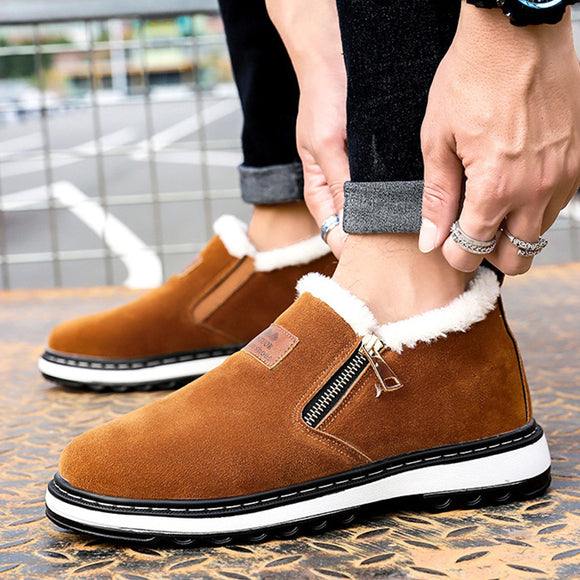 Men's Short Plush Casual Fur Boots