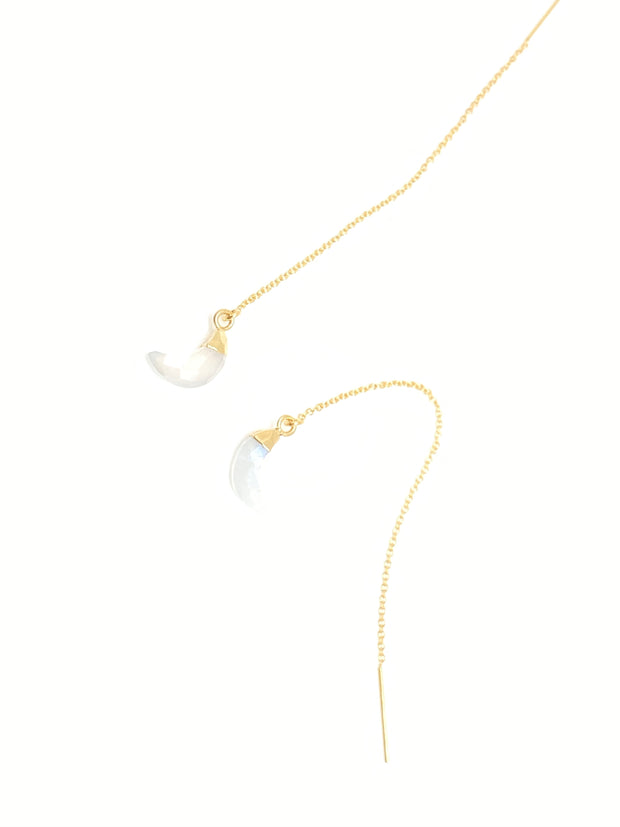 Luna Moonstone Gold Ear Threader