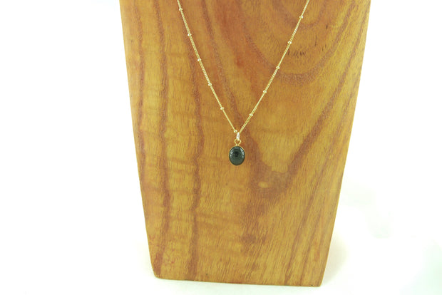 Onyx Scarab Protection Necklace