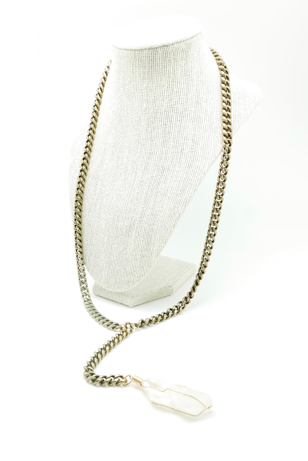 The Illusionist Quartz Y-Necklace