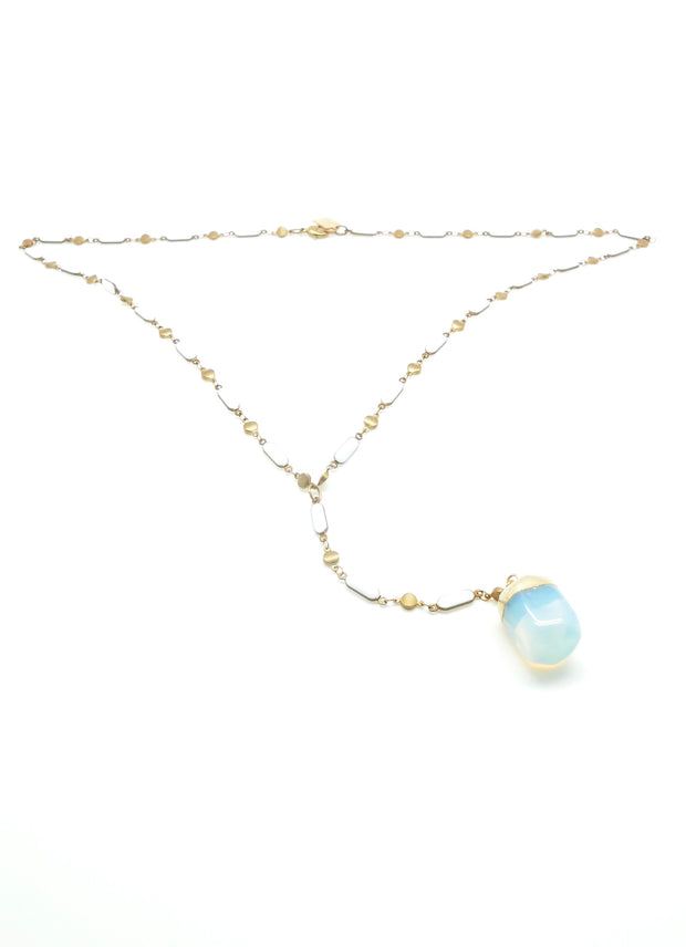 Opalite Enameled Y-Necklace