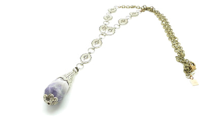 The Magi: Amethyst Concho Necklace