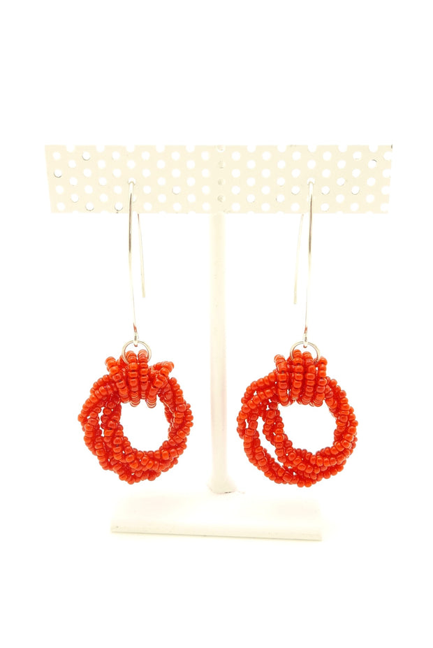 Red Tillie Drop Earrings