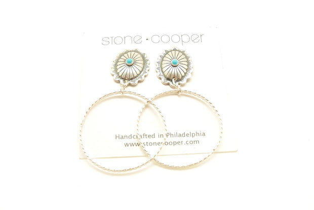 Turquoise Conch Hoops