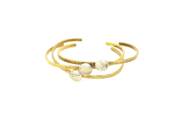 Tourmalated Quartz Brass cuff