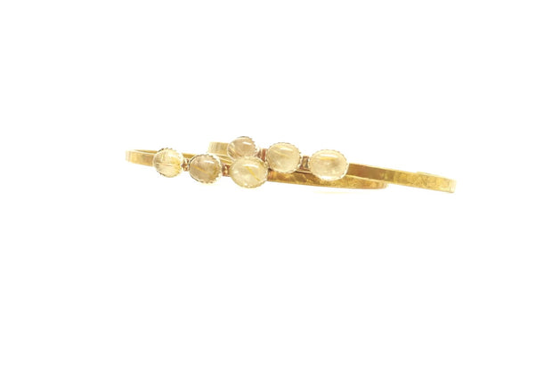 Golden Rutile Brass Cuff