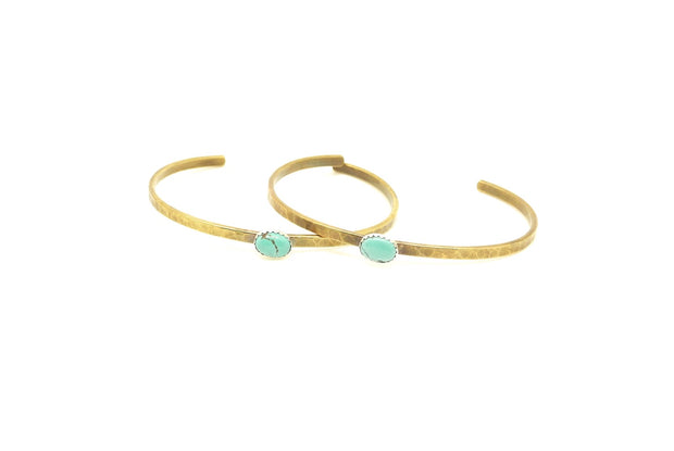 Turquoise Everyday Brass Cuff